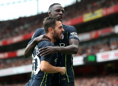 Silva and Mendy together.