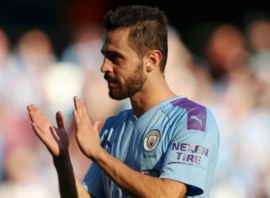 Manchester City playmaker Bernardo Silva.