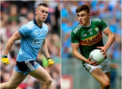 Dublin's Con O'Callaghan and Kerry's Sean O'Shea.