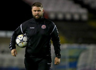Bohs U19s manager Craig Sexton.