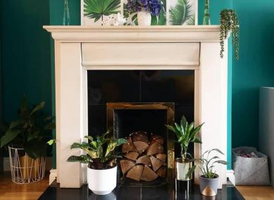 Ediana Dolan's fireplace.