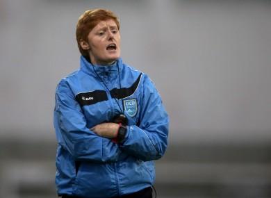 Eileen Gleeson on the line for UCD.
