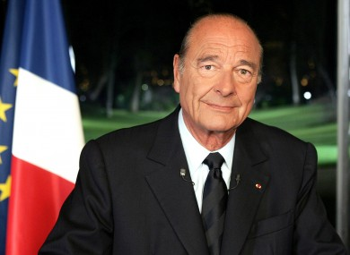 Former French President Jacques Chirac pictured in 2005.