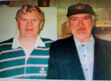 Joseph Tuohy (R) with Brian Boylan (L)