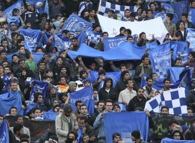 Esteghlal fans (file photo).