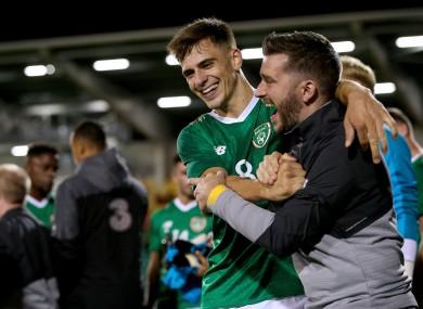 Jayson Molumby of Ireland celebrates after the game.