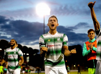 Lee Grace was the goalscorer for the Hoops on Friday.