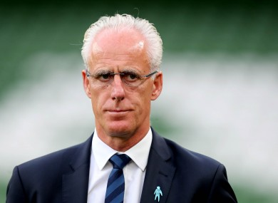Mick McCarthy ahead of last night's win over Bulgaria.