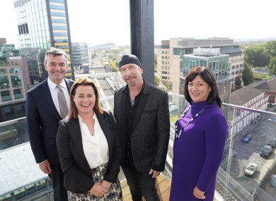 The Edge, board chair, and fellow board members Mark Roden, Ding; Elaine Coughlan, Atlantic Bridge and Anne Heraty, CPL Recruitment.