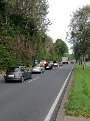 One of the checkpoints yesterday.