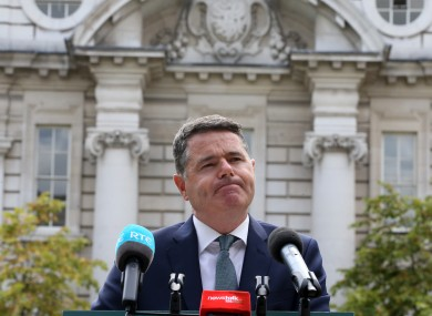 Donohoe will deliver Budget 2020 on 8 October.