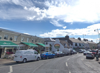 Oughterard, Co Galway where hundreds gathered over the weekend to protest any possible opening of a Direct Provision centre in the town.