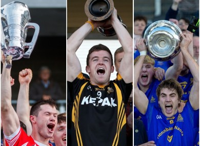 Seamus Harnedy, Tony Kelly and Ian Maguire were county winning captains last year.