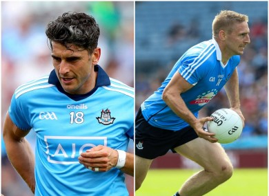 Bernard Brogan and Eoghan O'Gara are seasoned forwards in the Dublin ranks.