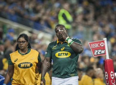 Nyakane sustained a knee injury but is set to recover in time for the All Blacks showdown.