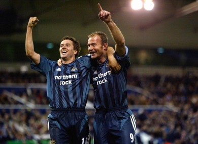 Owen and Shearer in happier times.