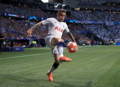 Trippier in action for Spurs prior to his move to La Liga.