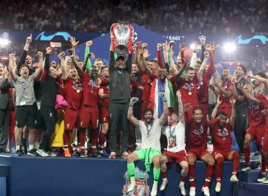 Jurgen Klopp's side lifted the Champions League trophy in June.