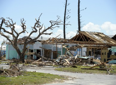 Homes were flattened across the Bahamas by Hurricane Dorian.