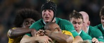 Stephen Ferris carries Will Genia home.