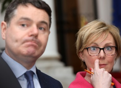 Finance MInister Paschal Donohoe and Social Protection Minister Regina Doherty.