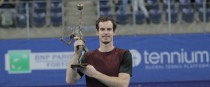 Andy Murray with the European Open title