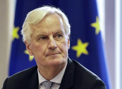 European Union chief Brexit negotiator Michel Barnier in Brussels yesterday.