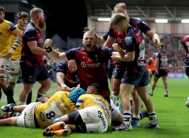 John Afoa went over for Bristol's fifth.