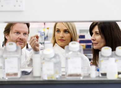 Professor Darran O'Connor, researcher Dr Louise Walsh and Dr Tríona Ní Chonghaile.