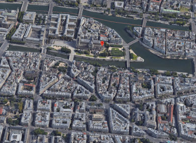 The police headquarters is located near Notre Dame cathedral.