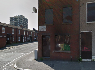 The Spamount Street area of Belfast.