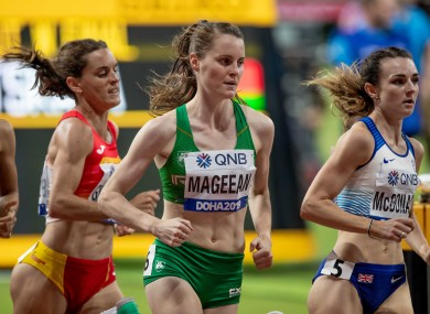 Ciara Mageean pictured during her 1,500 semi-final.