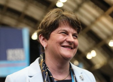 Arlene Foster at the Conservative Party conference.