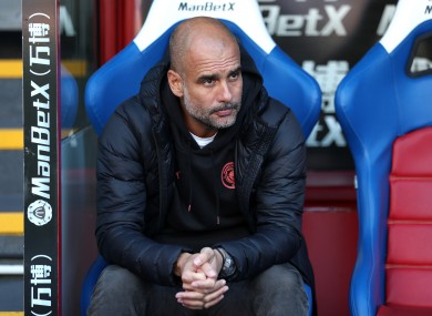 Pep watched his side defeat Crystal Palace at Selhurst Park over the weekend.