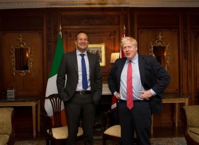 Leo Varadkar met with Boris Johnson this lunchtime.
