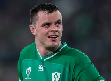 James Ryan pictured during Saturday's quarter-final.