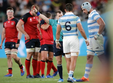 Nigel Owens dishes out the punishment.