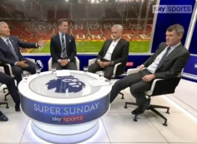 The Sky Sports panel after Manchester United's 1-1 draw with Liverpool.