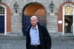 Garda Nicholas Keogh leaving the Disclosures Tribunal at Dublin Castle last week.