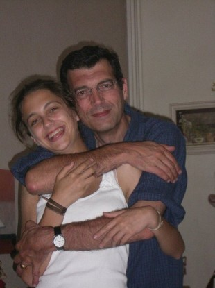 Handout picture of Xavier Dupont de Ligonnes and his daughter Anne, who was among those killed.