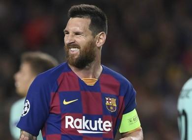 Lionel Messi (file pic).
