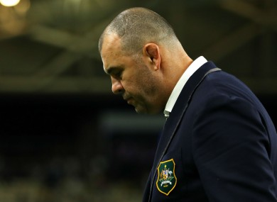 Australia coach Michael Cheika following his side's Rugby World Cup loss to England.