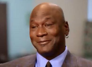 Michael Jordan speaking on the Today Show.