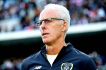 Mick McCarthy pictured during today's game.