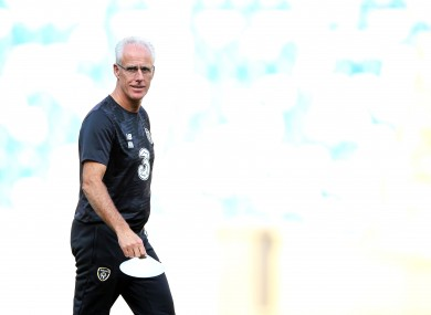 Ireland manager Mick McCarthy.