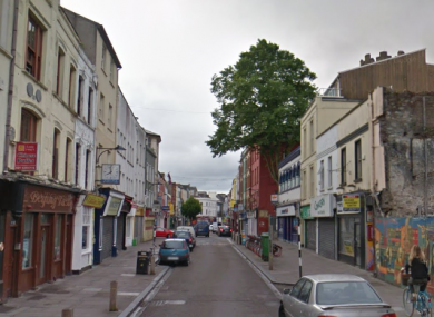 The incident happened on North Main Street in Cork on Tuesday morning