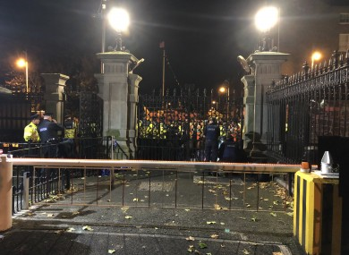 Scenes at Leinster House last night.