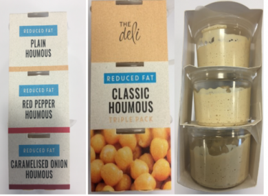 Houmous from Aldi affected by the recall.