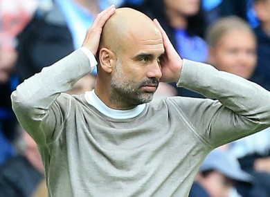 Pep Guardiola's men are currently second in the Premier League.