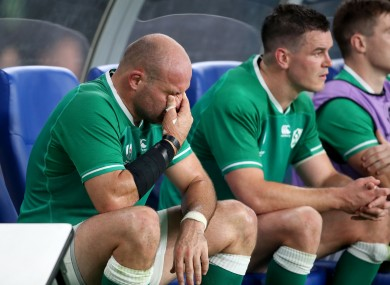 Ireland captain Rory Best after being substituted against New Zealand.